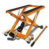 Cric Moto á Ciseaux XL pour Harley Davidson CVO Softail Breakout Orange Lève