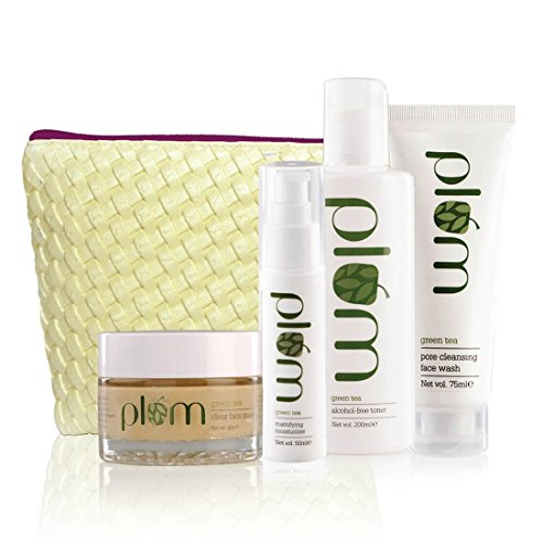 Plum Unisex Green Tea Face Care Kit   For Oily, Acne Prone Skin   Green Tea Extracts   Clear, Oil-Free Skin   100% Vegan, Cruelty Free