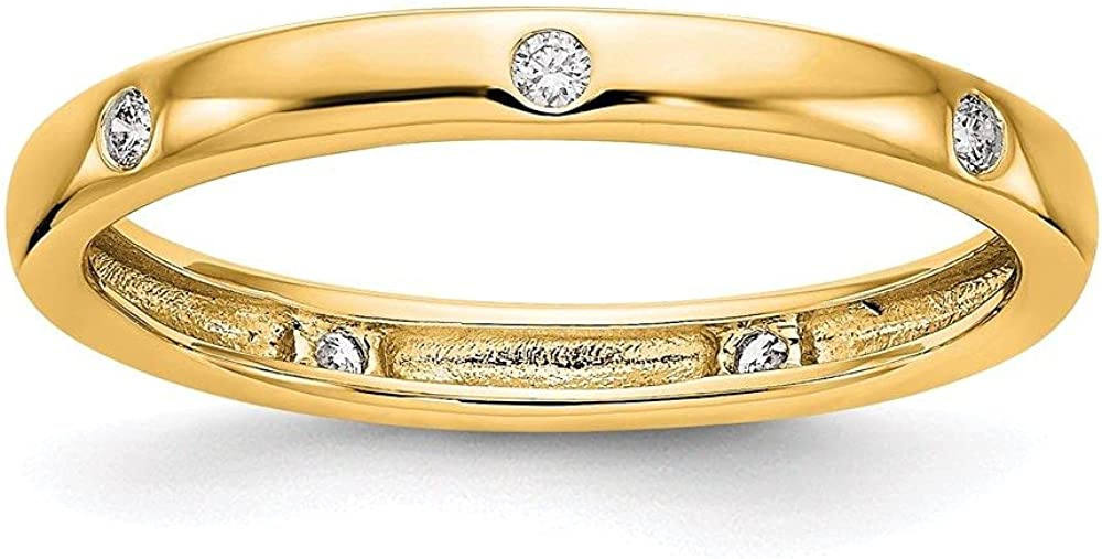 Jewelry-14k 1 SEAL limited product 10CT Polished Bezel Diamond Tulsa Mall Size Set Band Eternity