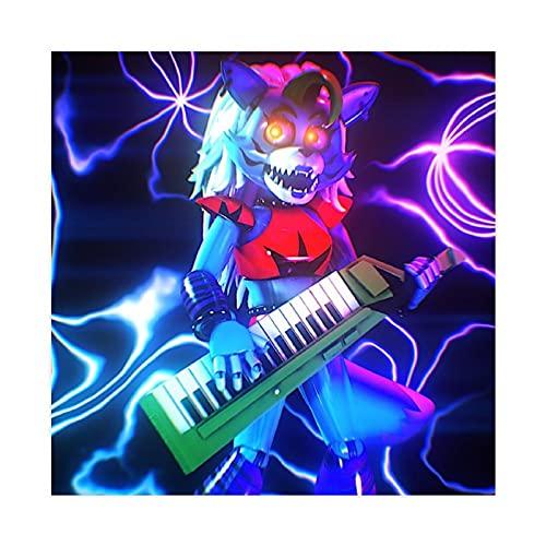 Póster de lona de Roxanne Wolf Game Five Nights at Freddy's para decoración de dormitorio, paisaje, oficina, habitación, decoración, regalo de 60 x 60 cm