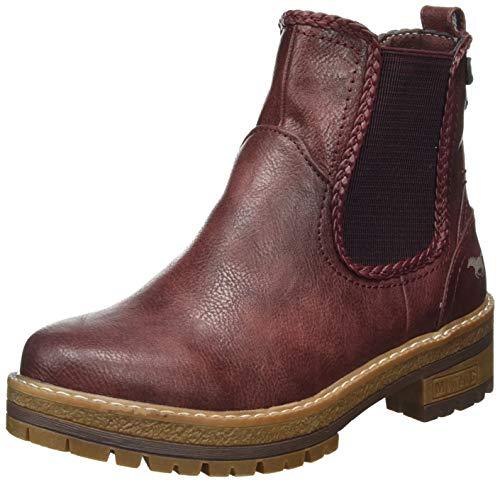MUSTANG Damen 1344-601-55 Chelsea Boots, Rot (Bordeaux 55), 39 EU