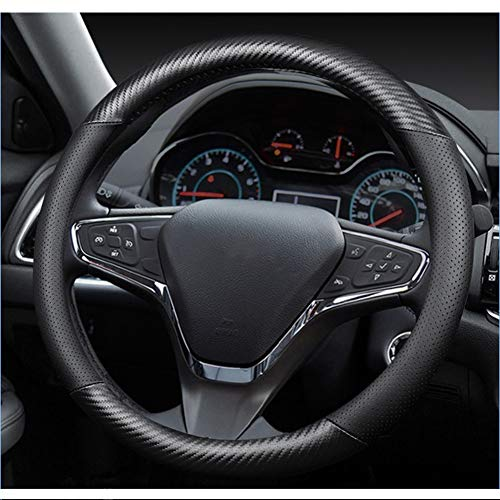 CARBON LOOK ECO LEATHER SWC 58 M i TO FIT VAUXHALL CORSA STEERING WHEEL COVER