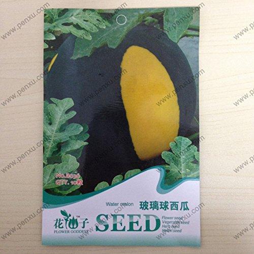 Paquet d'origine Melon et les graines de fruits, boule en verre Pastèque Graines, Mature Floraison 80 jours, 10 graines Particules/Sac