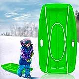 Atalawa Snow Sleds Toboggans, Sledges & Toboggans Heavy Duty Sledge Toboggan Sleigh Sled Plastic Unisex Ski Fun Board 1 Pack