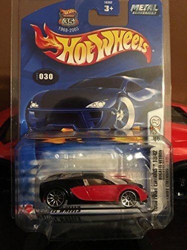 BUGATTI VEYRON 2003 First Editions #18 Bugatti Veyron Candy Apple Red #2003-30 1:64 Scale Collectible Collector Car Mattel Hot Wheels by Hot Wheels