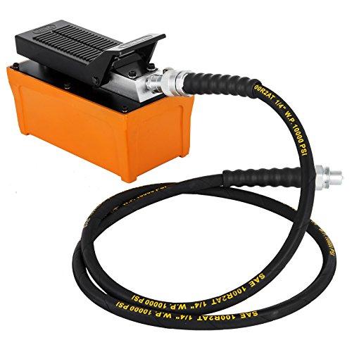 HODOY Pompa idraulica pneumatica della Pompa a Pedale idraulica del carro Armato 1000PSI 1/2 Gallon Pompa idraulica pneumatica per Le Prese a Semplice Effetto (Pompa idraulica)