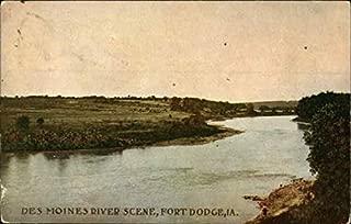 Des Moines River Scene Fort Dodge, Iowa Original Vintage Postcard