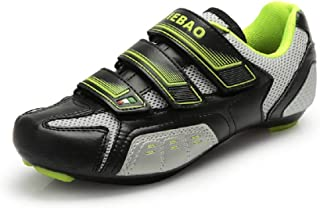 Road Cycling Carbon Reinforced Bicycle Bike Shoes SPD SL Look Nylon-fibreglass Spin Air-Mesh Sneaker Style with Buckle Men Women Road Cycling Shoes Footwear