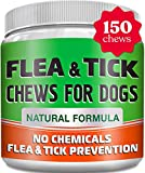 Chewable Fl?a and Tick Treats for Dogs - USA Made - Natural Fl?a and Tick Solution for Dogs - No Ch?micals, No M?ss, No Collars - Bacon Flavor - 150 Soft Chews