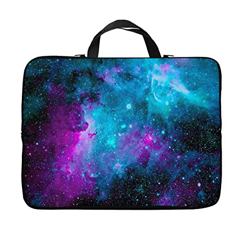 Britimes Laptop Case 14 15 15.6 inch, Dazzling Galaxy Beautiful Colorful Starry Outer Romantic Milky Space Glowing Neoprene PC Computer Sleeve Waterproof Notebook Handle Carrying Bag