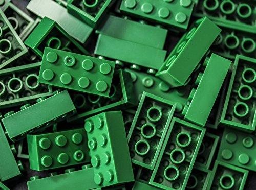 Imex 2x4 Stud Green Compatible Bricks, 100pc