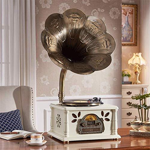 Best Bargain ALIZJJ Mini Vintage Retro Classic Style Phonograph Gramophone Shape Stereo Speaker Soun...