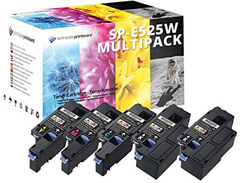 5 Schneider HOCHLEISTUNGS Toner nach (ISO-Norm 19798) kompatibel zu Dell E525w 2.400 Seiten Schwarz, 1.650 Seiten Cyan Gelb Magenta