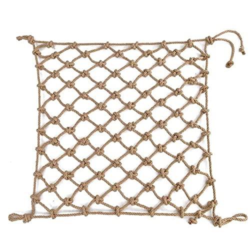 Amacthysh Child Climbing Safety Net,Hemp Rope Net, Cargo Net,Playground Railing Protective Net,Outdoor Treehouse Kids Swing Rope Netting,Hammock Fence Decoration,1 * 4m/3.3 * 13.12ft