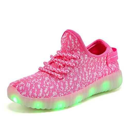 XZSPR Kids Boys Girls Breathable LED Light Up Flashing Sneakers for Children