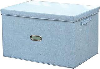 QLWY Boîtes de Rangement Pliables, Caisse de Rangement avec Couvercle et Poignées, Protection environnementale Lavable pou...