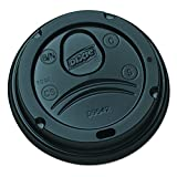 Dixie 10-16 oz. Dome Hot Coffee Cup Lids by GP PRO (Georgia-Pacific), Black, D9542B, 1,000 Count (100 Lids Per Sleeve, 10 Sleeves Per Case)