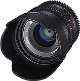 Samyang V-CSC Mirrorless - Objetivo para videocámara para Sony E (21mm T1.5 ED AS UMC CS), Negro