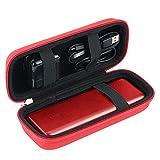 Khanka Dur Cas étui de Voyage Housse Porter pourAnker PowerCore Batterie Externe 20100 mAh 2 Ports USB 4.8A Batterie Portable (Red)