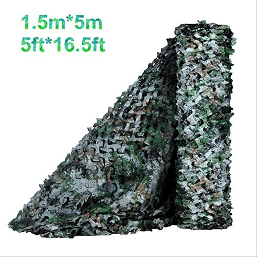 Simple 1.5 Wide Woodland Digital Military Camo Netting Hunting Camouflage Nets Awning For Car Sun Shelter For Beach Tent 1.5mx7m