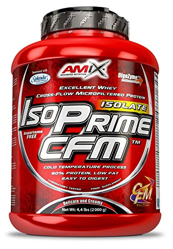 Amix IsoPrime CFM Whey Isolate Protein 90%, Excellent Whey Cross-Flow Microfiltered Protein with Essential Amino Acids (Double White Chocolate, 2000 g)