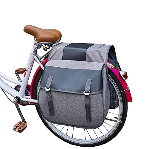 WYZQ Portaequipajes para Bicicletas, a Prueba de roturas Bolsas de Equipaje Grandes con Cubierta para la Lluvia Juego de portaequipajes Bolsa para Equipaje Bolsa de 70L Bolsas para Bicicletas a p
