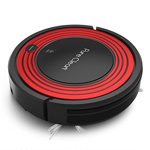Robot Vacuum Cleaner and Dock - 1500pa Suction w/ Scheduling Activation and Charging Dock - Robotic Auto Home Cleaning for Carpet Hardwood Floor Pet Hair & Allergies Friendly - Pure Clean PUCRC95 Dining Features Kitchen Vacuums