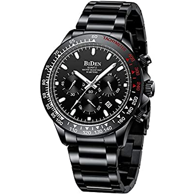 Amazon - Save 80%: Mens Watches Chronograph Stainless Steel Watch Waterproof Date Analog…