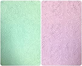 Floral Pattern Embossed on Pastel Colored Stretch Scuba Polyester Spandex Fabric by The Yard (Pale Mint)