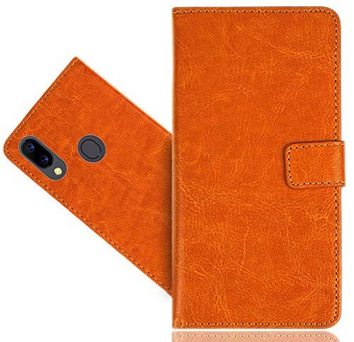 HülleExpert UMIDIGI A3 / A3 Pro Handy Tasche, Wallet Hülle Cover Genuine Hüllen Etui Hülle Ledertasche Lederhülle Schutzhülle Für UMIDIGI A3 / A3 Pro