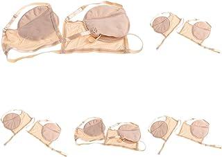 Prettyia 5 Pcs Washable Underarm Sweat Pads Armpit Shield Pad With Shoulder Straps