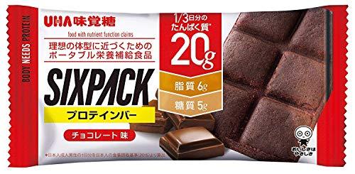 UHA味覚糖 SIXPACK プロテインバー チョコレート味 40g
