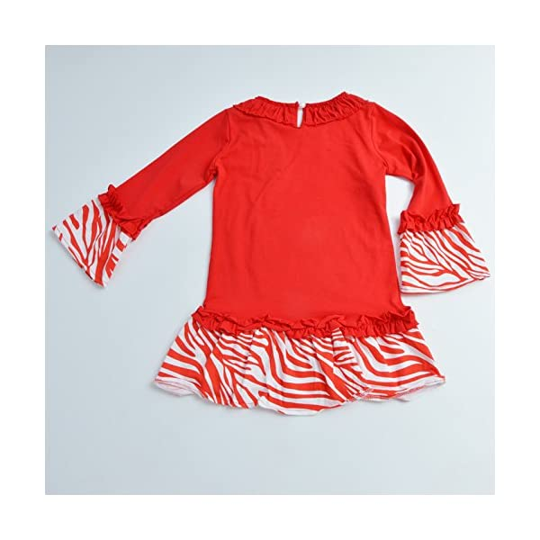 MMBeauty Girls 2pcs Long Pajamas Sleepwear Set Christmas Homewear Red