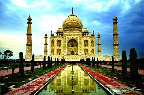 Puzzle 1000 Piezas para Adultos,Los Puzzles De Madera, Rompecabezas Juegos para La Familia, Brain Challenge Rompecabezas para Niños, Juegos De Matriz Subordinada, Inteligencia Rompecabezas,Taj Mahal