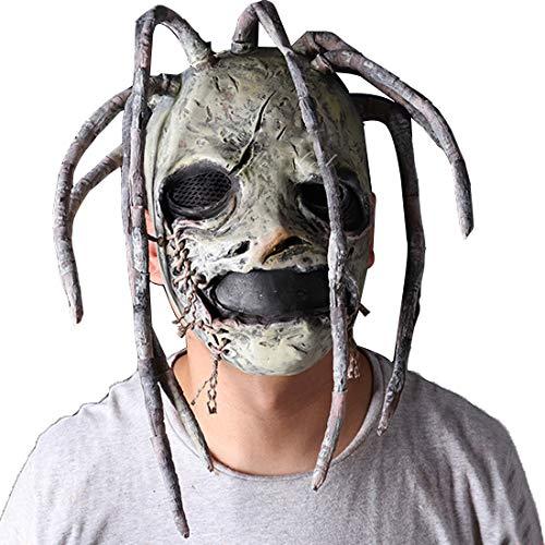 Corey Taylor Latex Mask with Dreadlocks Slipknot Fancy Dress Halloween Cosplay Music Party Prop