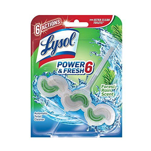 Lysol Power & Fresh 6 Automatic Toilet Bowl Cleaner, Forest Rain, 1ct