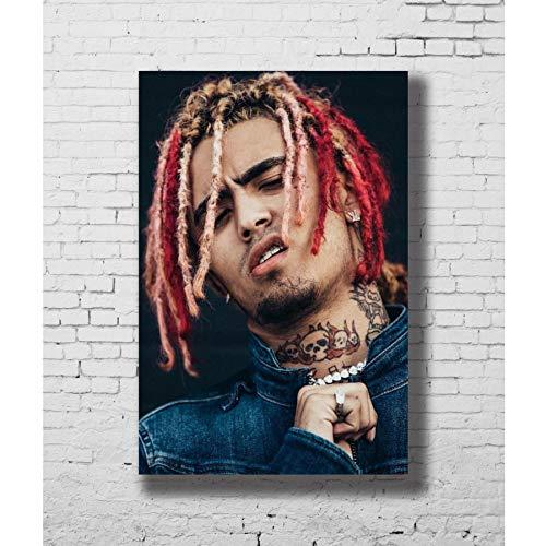 NOVELOVE Wandkunst Bild Lil Pump Rapper Hip Hop Musik Sänger Poster Drucken Leinwand Malerei Geschenk Ohne Rahmen 50 * 70 cm