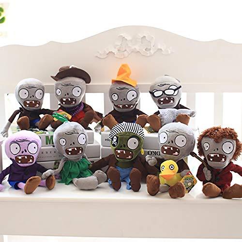 lhtczzb 9 Unids / Set 30 Cm Plantas Vs Zombies Plantas Vs Zombies Peluche, Zombies contra Plantas Juguetes De Peluche Muñeca De Peluche Regalo para Niños