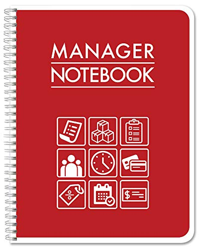 BookFactory Manager Notebook/Manager's Log Book/Managerial Logbook - Wire-O, 100 Pages, 8.5' x 11' (LOG-100-7CW-PP(ManagerNotebook)-BX)