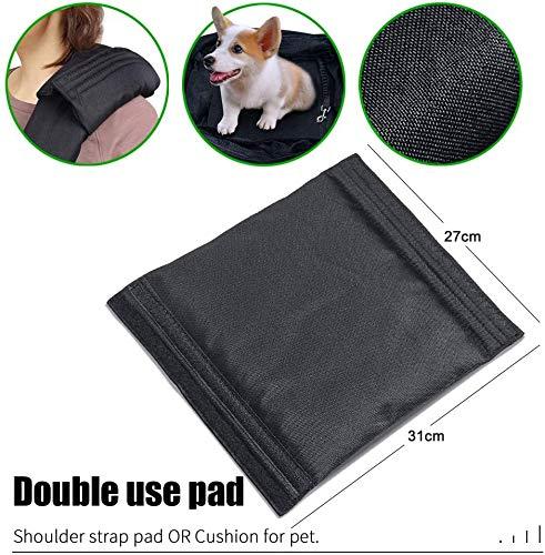 longsheng Dog Cat Sling Carrier, Adjustable Padded Shoulder Strap, with Zipper Pocket for Outdoor Travel 2