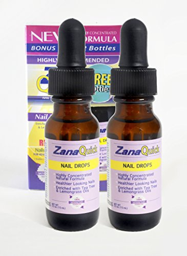 ZanaQuick Toenail Fungus Drops – Pack of 2 – Extra Strength Antifungal Foot Remedy, Natural Nail Fungi Remover, Powerful Feet Healing Formula with Tea Tree and Lemongrass Oils