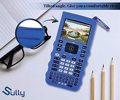 Sully Silicone Skin for Ti Nspire CX/CX CAS Handheld (Blue) w/Screen Protector - Silicon Cover Case for Ti-Nspire CX Hand held Graphing Calculator - Protective & Anti-Scretch Skins & Screen Covers Photo #6