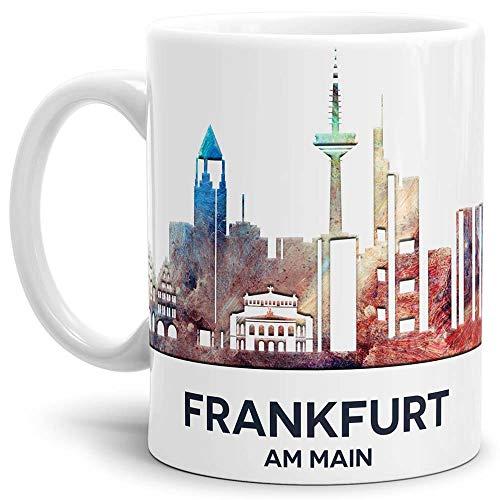 Tassendruck Frankfurt-Tasse Skyline - Kaffeetasse/Mug/Cup - Qualität Made in Germany