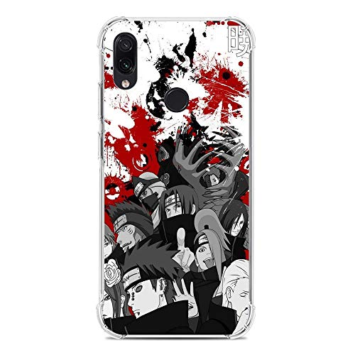 Cases for XIAOMI Redmi Note 7/7 Pro, Naruto-Akatsuki Logo-Symbol Member Cloud 1 Transparent Thin TPU Shockproof Silikon Coque Cover Phone Cases