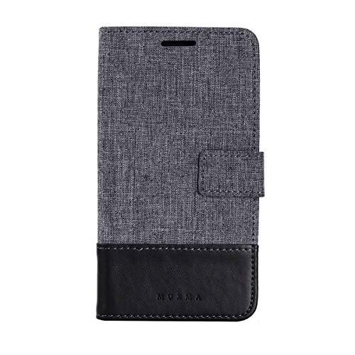 Sangrl Cover per Xiaomi Redmi Note4, Moda Semplice PU Pelle Custodia Flip Protettiva Case Tela Design Chiusura Magnetica Case Custodia per Xiaomi Redmi Note 4X - Nero