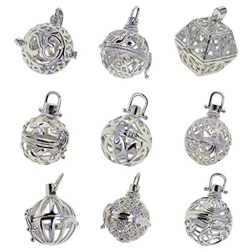 lahomia 9 Styles Pendants Charms Copper Bead Cage Accessories to