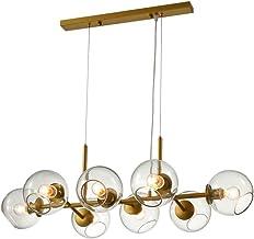Chandelier Lighting 8 Light Modern Magic Bean Chandelier Glass Shade, Industrial Pendant Light Fixture for Kitchen Dining ...