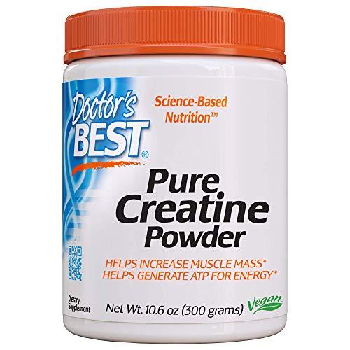 Doctor#039s Best Pure Creatine Powder NonGMO Vegan Gluten Free 300g
