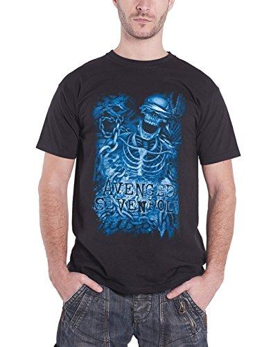 ii Avenged Sevenfold Chained Skeleton Band Logo Mens Black T Shirt,Camisetas y Tops(X-Large)