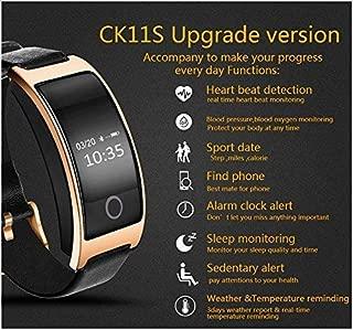 BOND CK11S Smart Band Blood Pressure Heart Rate Monitor Fitness Bracelet Tracker Pedometer Wristband (Gold)